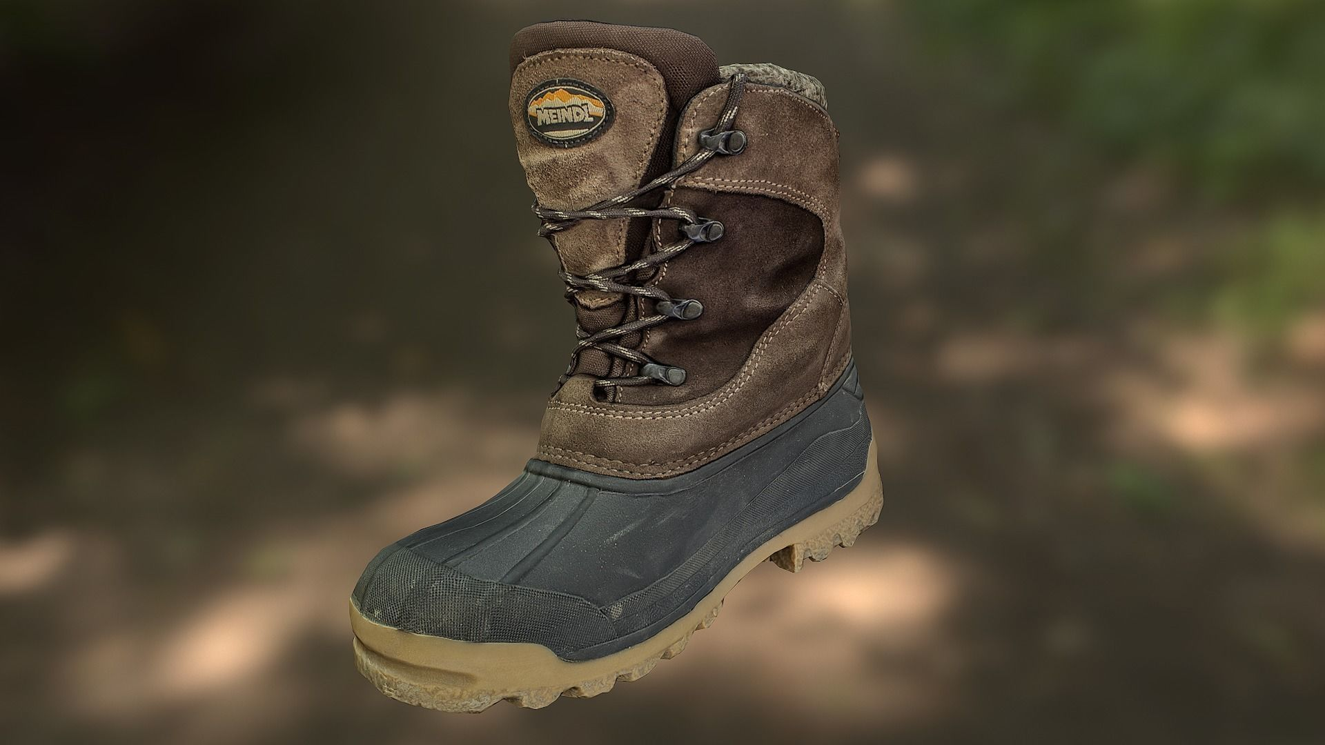 Boot 3D model low poly