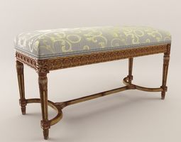 Neoclassical stool - Around 1880 3D