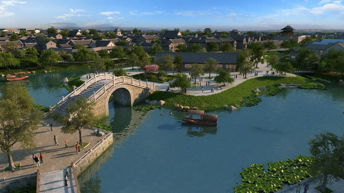 Ancient Chinese Gardens 2 3D CGTrader