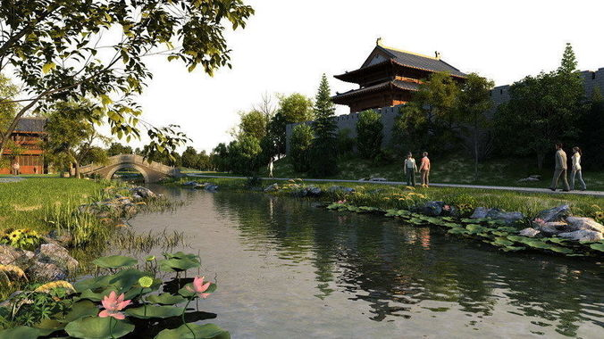3D Ancient Chinese Gardens 4 CGTrader