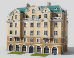 3D model Neoclassic hotel