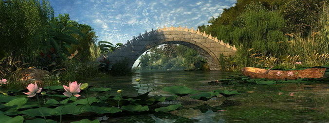 3D model Ancient Chinese Gardens 12 CGTrader