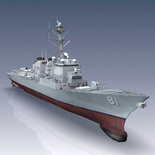 arleigh burke class destroyer flight iia 3d model max obj mtl 3ds fbx lwo lw lws flt 1