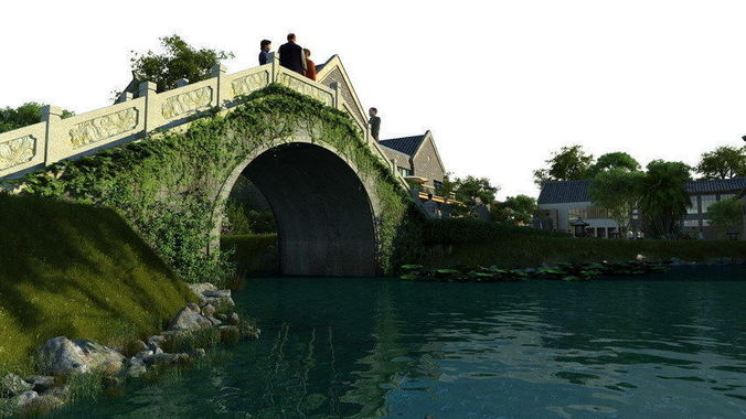Ancient Chinese Gardens 32 3D CGTrader