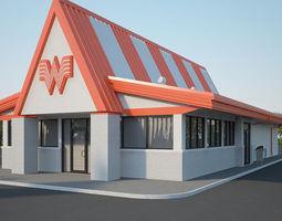 Whataburger Restaurant 01 3D