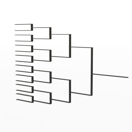tournament bracket  3d model max obj 3ds fbx mtl 1