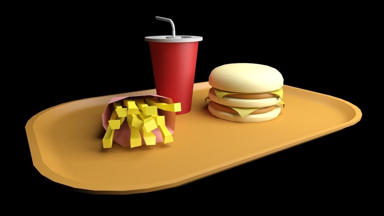 3D model menu fast food   CGTrader