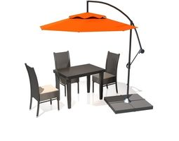 3D Outdoor Patio Cantilever Umbrella