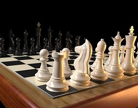 Photorealistic Chess 3D asset