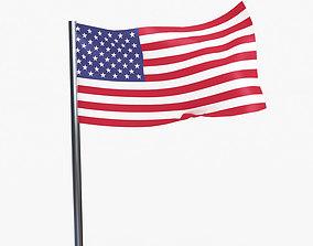 3D model USA FLAG
