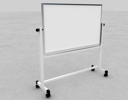 Whiteboard with stand 3D