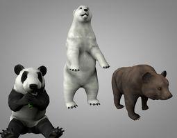 3D asset Bears pack