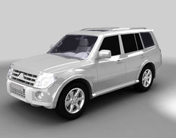 low-poly Pajero 2008 3ds model