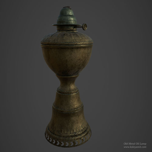 old metal oil lamp 3d model low-poly obj fbx ma mb ztl spp 1
