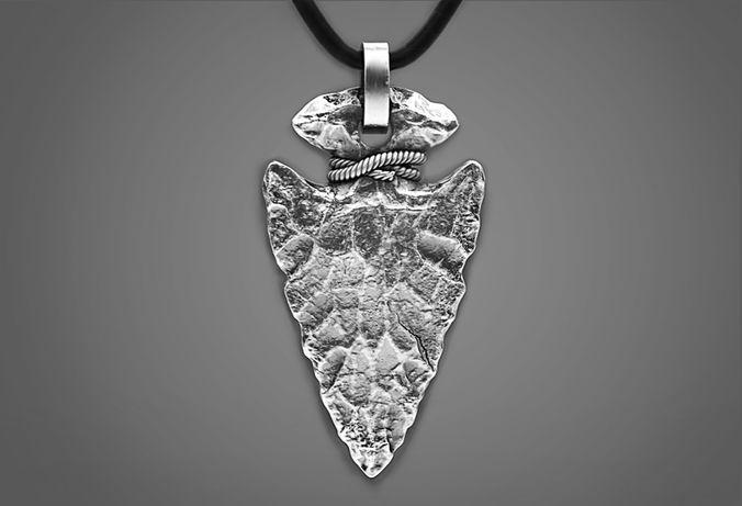 Stone arrowhead pendant 3d print model cgtrader stone arrowhead pendant 3d model obj stl 1 aloadofball Gallery