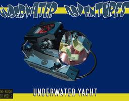 Aurora underwater yacht 3D model