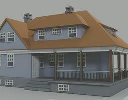 House - Made in blender 3D model game-ready