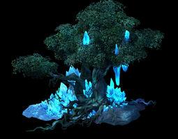 3D model Crystal Marsh - Trees 03