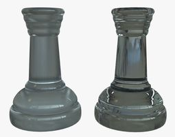 Rook Chess Pieces Glass 3D model