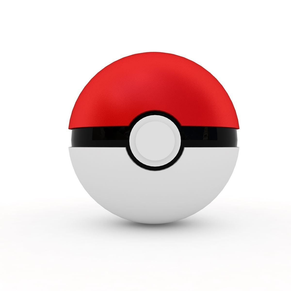 Pokemon Ball 3d Model Max Obj Mtl 3ds Fbx 3