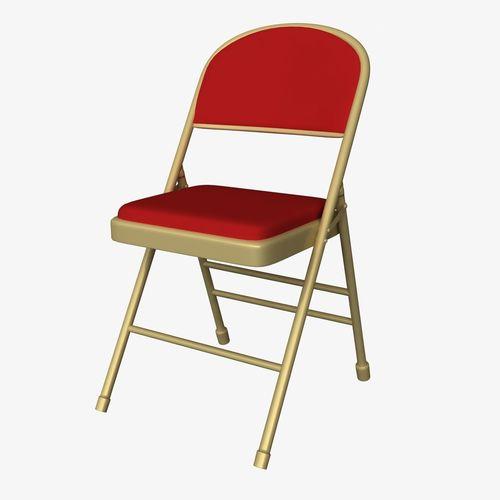 Genial ... Cushion Folding Chair 3d Model Rigged Fbx Ma Mb Mel 2 ...