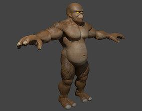 Muscular Monster Creature 3D