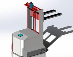The AGV forklift 3D model