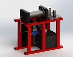 horizontal press brake 3d model