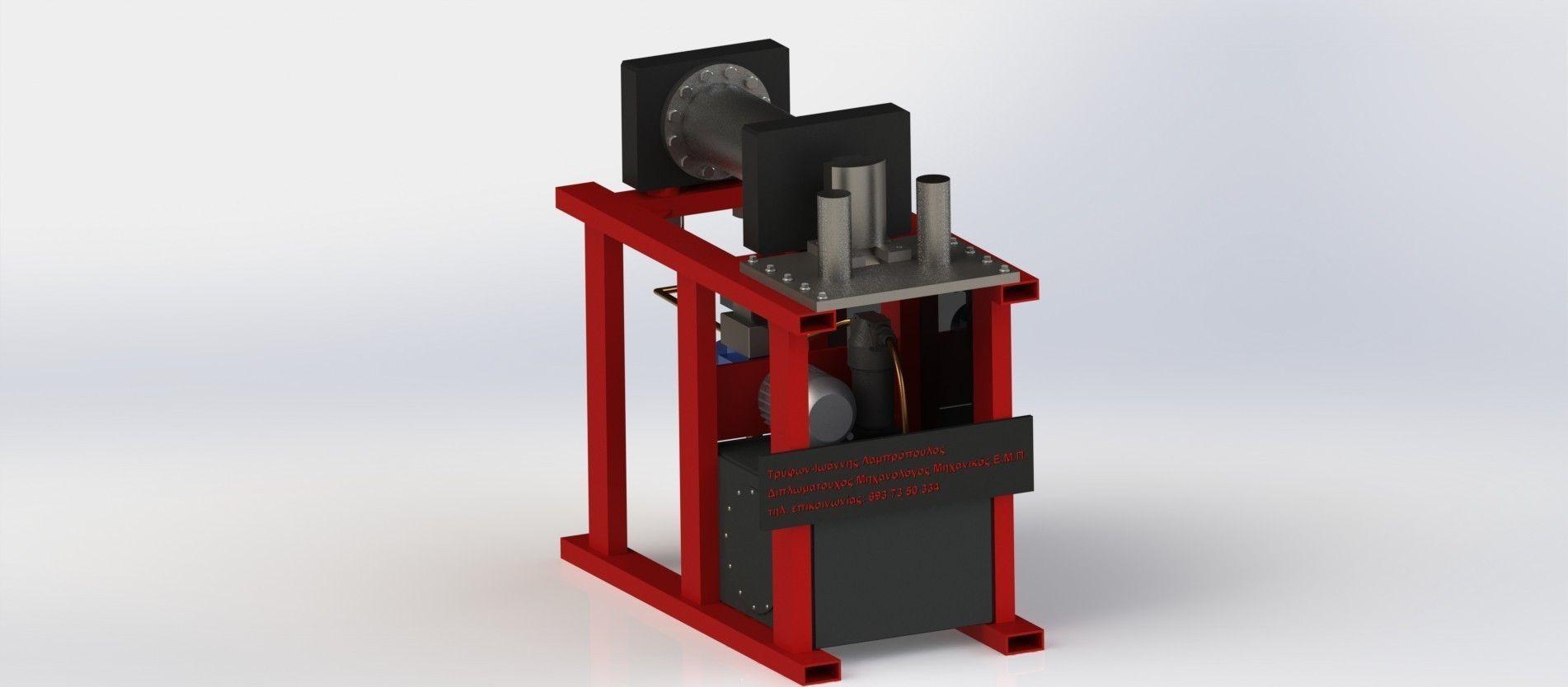 Horizontal Press Brake 3d Model Cgtrader Com