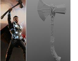 3D print model V2 Thor s Stormbreaker Hammer axe 2