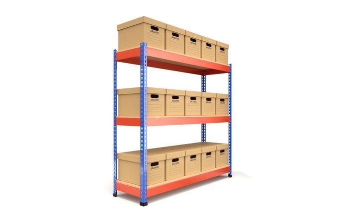 storage boxes with metal rack 3d model obj mtl fbx blend 1