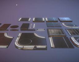 3D model Sci Fi Floors Kit 1