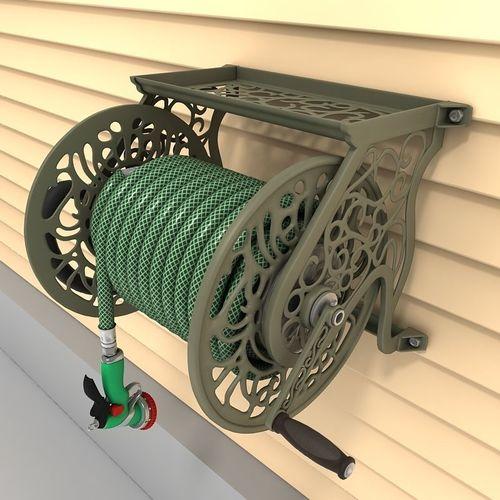hose reel wall mount 01 3d model max obj mtl 3ds tga 1