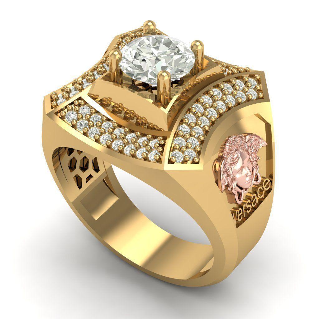 363 Versace Diamond Ring Model Stl 1