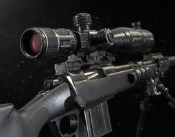M40 Sniper Rifle - Mid Poly 3D model