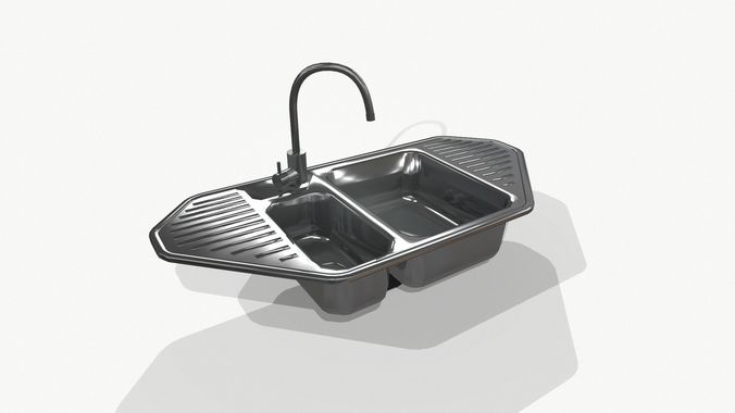 Sink Tap Modell : Silver sink tap d asset cgtrader