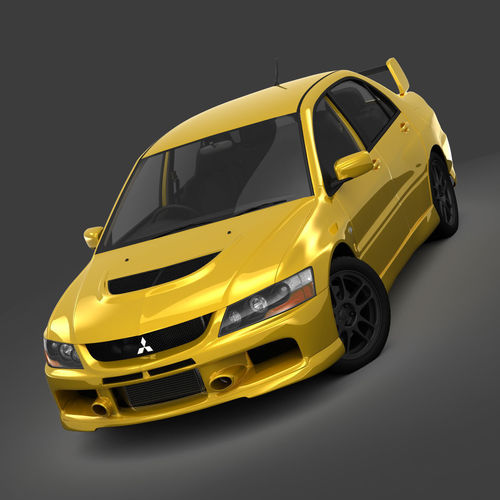 Elegant ... Mitsubishi Lancer Evolution 9 Rs 2006 3d Model Max Obj Mtl 3ds Fbx 4 ...