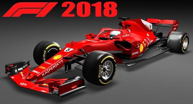 formula 1 sf71h f1 2018  3d model low-poly max obj mtl 3ds fbx tga 1