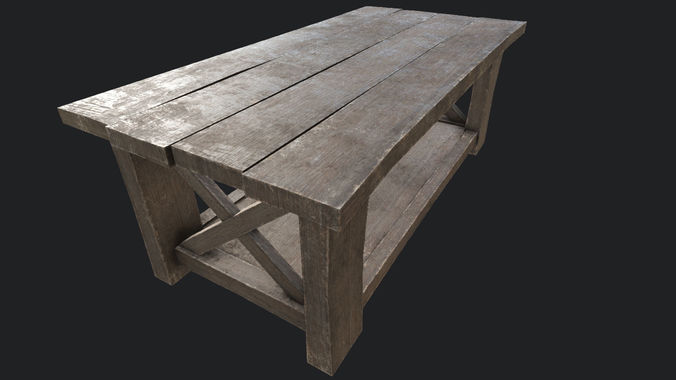 Wooden Table 2 PBR