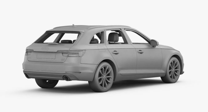 Amazing Audi A4 Avant 2016 Detailed Interior 3d Model Max Obj 3ds Fbx Mtl 27
