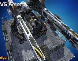 3D asset Railgun - HQ