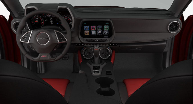3d Model Chevrolet Camaro Ss 2016 Detailed Interior