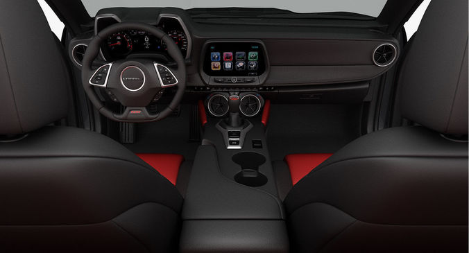 3d Chevrolet Camaro Ss Convertible 2016 Detailed Interior