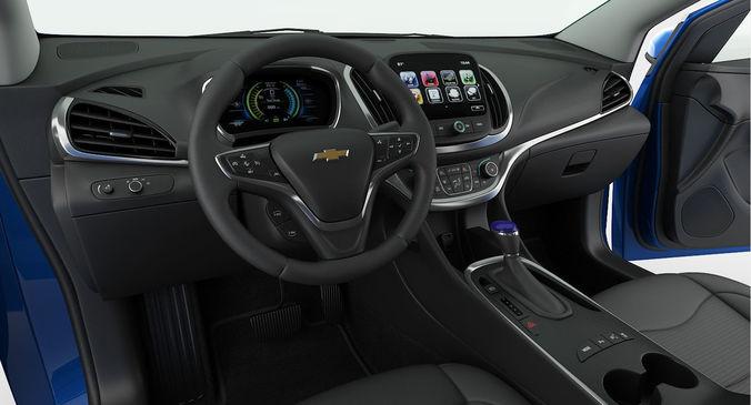 Chevrolet Volt 2017 Detailed Interior Model Max Obj Mtl S Fbx 17