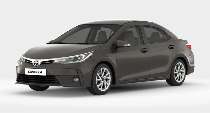 Toyota Corolla 2017 Detailed Interior Model Max Obj Mtl S Fbx 1