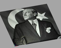 Mustafa Kemal ATATURK Relief 3D model