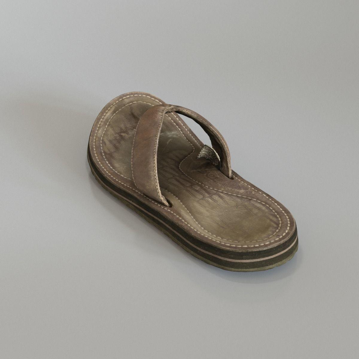 e41168bfe5ee67 ... old teva sandal 3d model max fbx c4d ma mb 3 ...