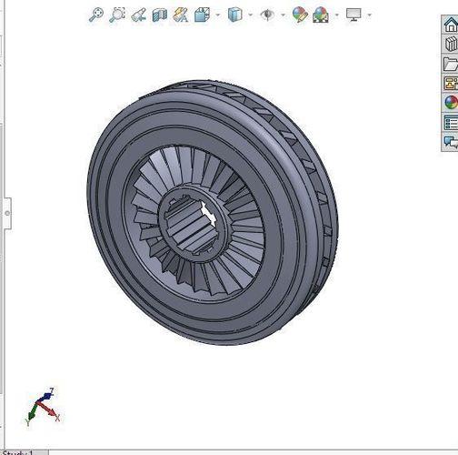 simple compressor wheel 3d model sldprt sldasm slddrw 1