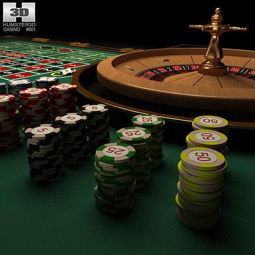 casino roulette table 3d model max obj 3ds fbx c4d lwo lw lws 1