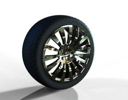 alloy rim and wheel assembly 3d model
